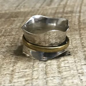 Jewelry - 925 Sterling Silver Two Tone Ring
